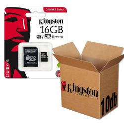 Kingston CANVAS SELECT MICRO SDHC PAMÄŤOVÁ KARTA + ADAPTER 16GB CLASS 10 UHS-I U1 10KS/KRABICA