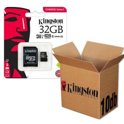 Kingston CANVAS SELECT MICRO SDHC PAMÄŤOVÁ KARTA + ADAPTER 32GB CLASS 10 UHS-I U1 10KS/KRABICA