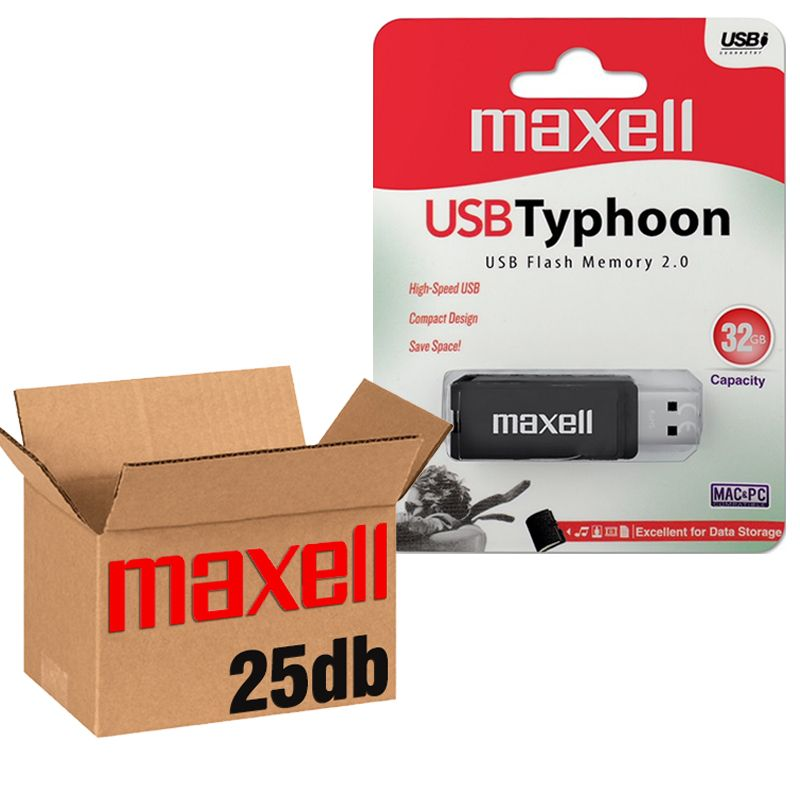 Maxell USB 2.0 TYPHOON USB KĽÚČ 32GB - 25KS/KRABICA