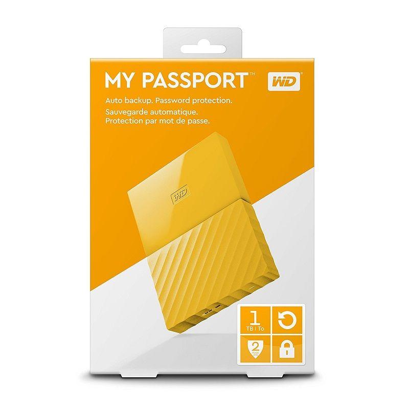 80c5408ef0385 Western Digital USB 3.0 HDD 2,5 MY PASSPORT 1TB EXTERNÝ PEVNÝ DISK ŽLTÝ